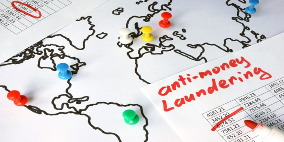 Anti-money laundering (AML) concept.